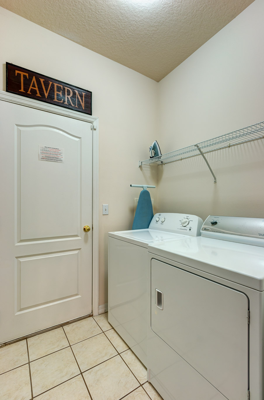 Laundry Area, Door to Games Room