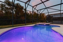 Pool at night (Purple)